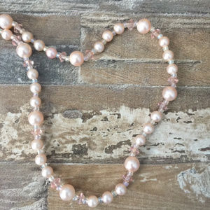 Vintage Faux Pearl and Bead Necklace